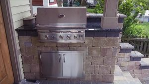 Outdoor grill project by Ultimate Granite and Design, Glendale Heights