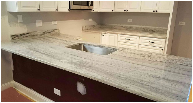 Kitchen counter project by Ultimate Granite and Design, Glendale Heights